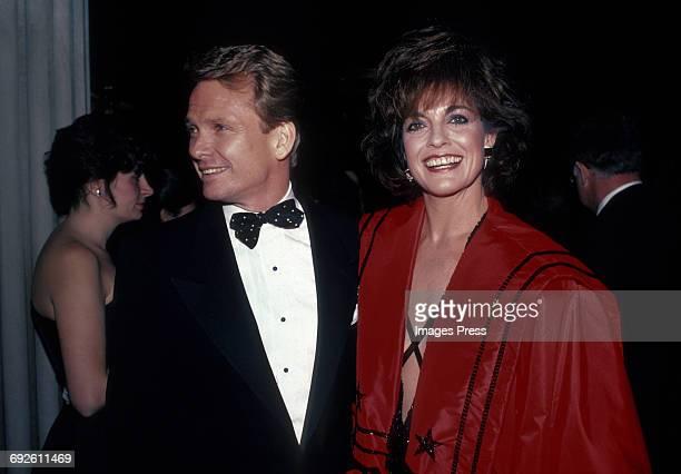 Linda Gray and fashion designer Bob Mackie circa 1983 in New York City