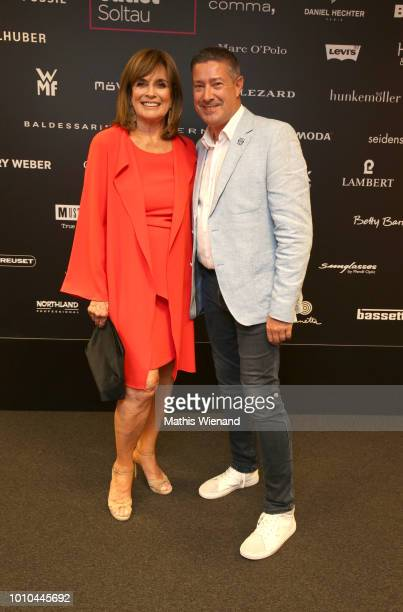 Linda Gray and Joachim Llambi at the Late Night Shopping at Designer Outlet Soltau on August 3 2018 in Soltau Germany