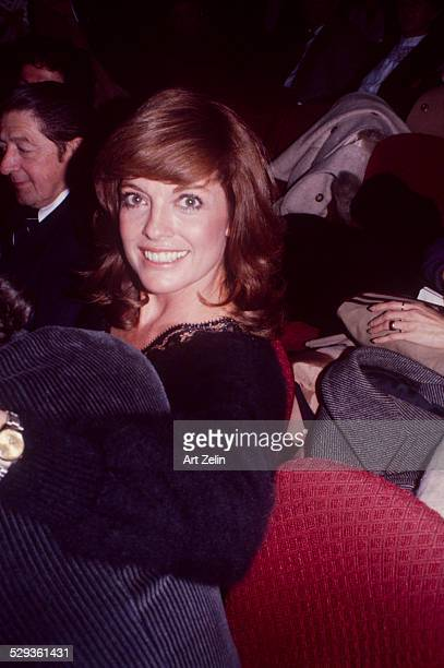 Linda Gray seated in a theater circa 1970 New York