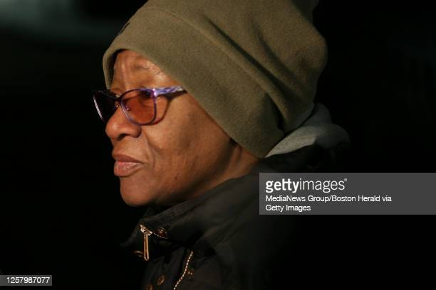 March 7, 2019: Linda Green speaks as a crowd gathers at Saint Peter's Center for a vigil for Jassy Correia on Thursday, March 7, 2019 in Boston,...