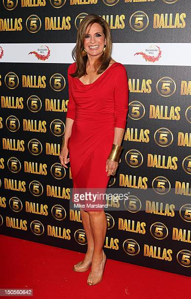 Linda Grey attends a party to celebrate the new Channel 5 television series of 'Dallas' at Old Billingsgate on August 21 2012 in London United Kingdom