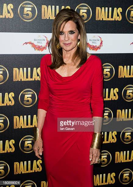 Linda Grey attends the Channel 5 Dallas Launch Party at Old Billingsgate Market on August 21 2012 in London England