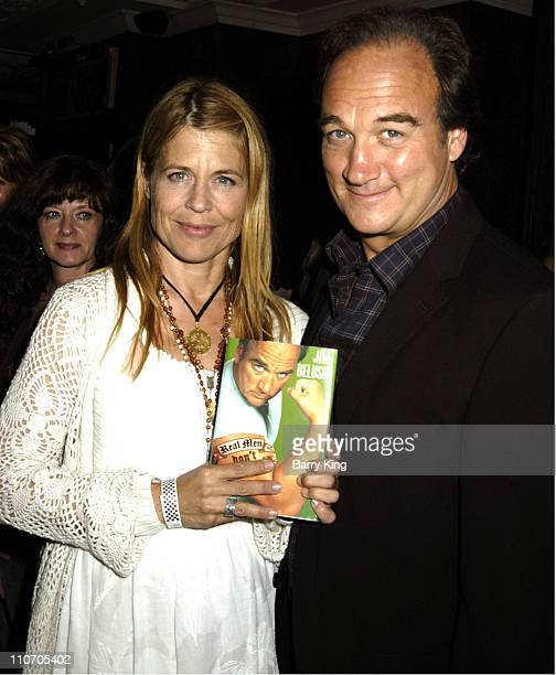 Linda Hamilton and Jim Belushi during LA Confidential Hosts Jim Belushi Book Party for 'Real Men Don't Apologize' at the House of Blues at House of...