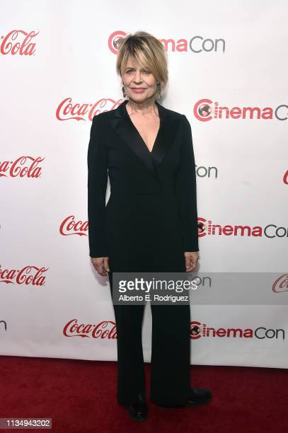 Linda Hamilton attends The CinemaCon Big Screen Achievement Awards Brought to you by The CocaCola Company at OMNIA Nightclub at Caesars Palace during...