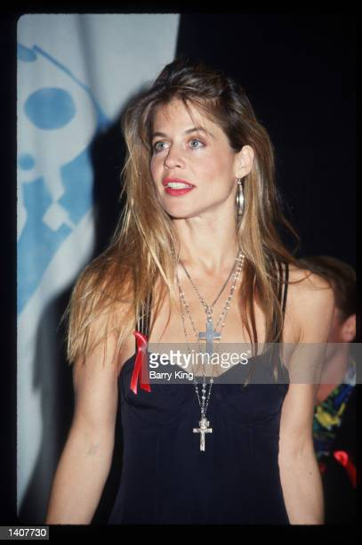 Linda Hamilton attends the first annual MTV Movie Awards June 6 1992 in Los Angeles CA The show combined performances with award presentations and...