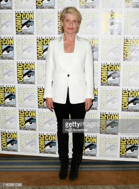 Linda Hamilton attends the Terminator Dark Fate premiere at Hilton Bayfront during 2019 ComicCon International on July 18 2019 in San Diego California