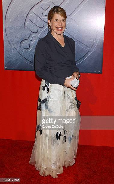 Linda Hamilton during 'Hellboy' Los Angeles Premiere Arrivals at Village Theatre in Westwood California United States