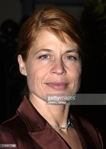 Linda Hamilton during Screening of Hallmark Entertainment's 'Silent Night' at Paramount Studios Theater in Los Angeles California United States
