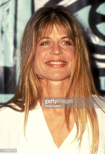 Linda Hamilton presenter during The 1991 MTV Music Video Awards Press Room at The Universal Amphitheater in Universal City CA United States