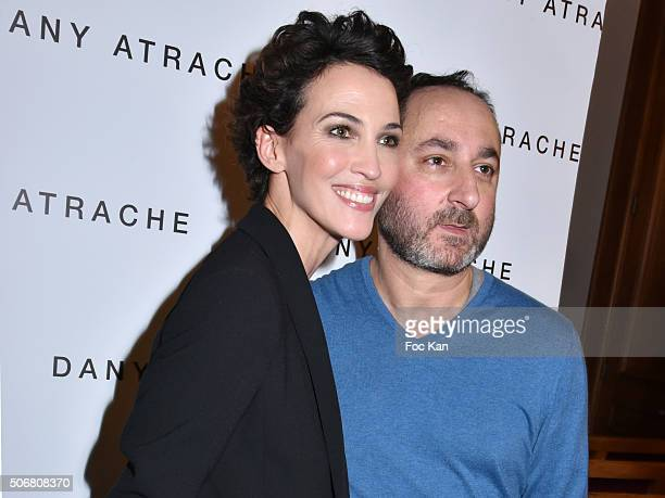 Linda Hardy and Dany Atrache attend the Dany Atrache Spring Summer 2016 show as part of Paris Fashion Week on January 25 2016 in Paris France