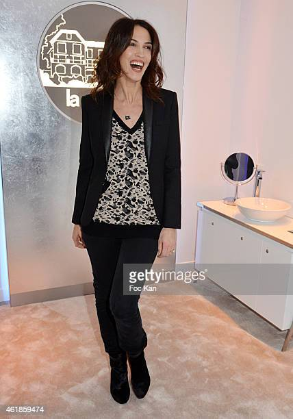 Linda Hardy attends 'La Prairie' Shop Opening Party at La Prairie Saint Honore on January 20 2014 in Paris France