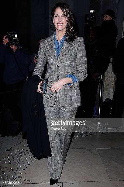 Linda Hardy attends the Giorgio Armani Prive show as part of Paris Fashion Week Haute Couture Spring/Summer 2015 on January 27 2015 in Paris France