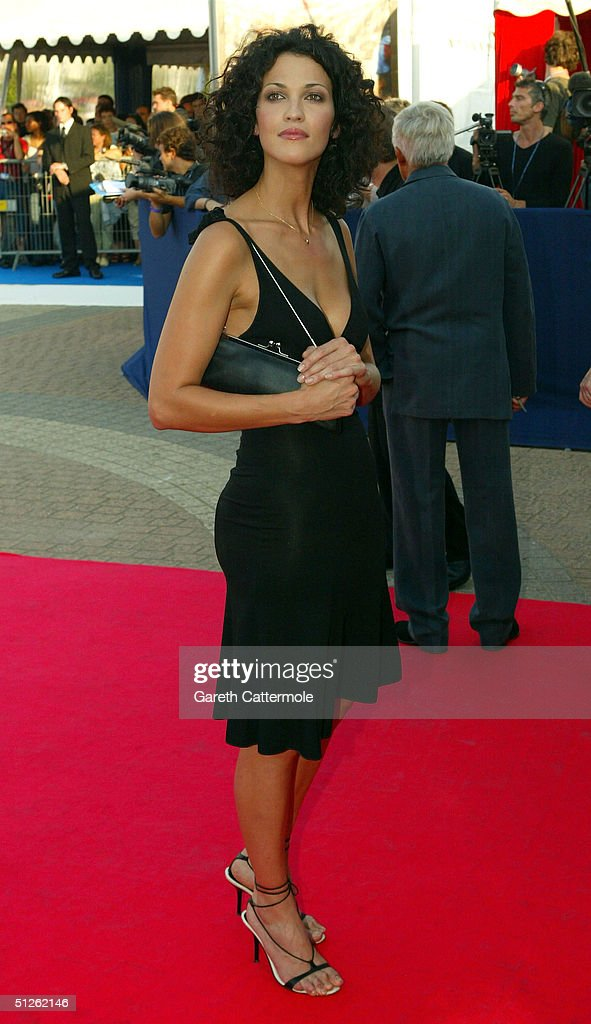 Linda Hardy attends the 'The Terminal' premiere at the 30th Deauville American Film Festival on September 4, 2004 in Deauville, France.
