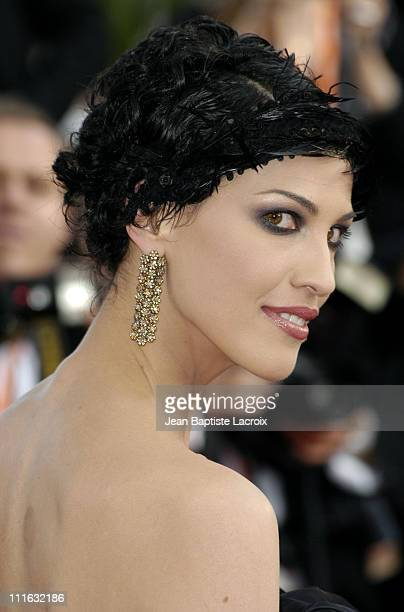 Linda Hardy during 2003 Cannes Film Festival Les Egares Premiere at Palais Des Festival in Cannes France
