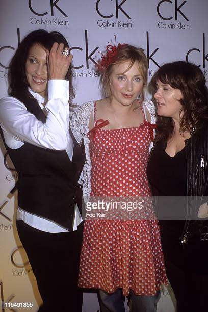 Linda Hardy Julie Depardieu and Marie Amelie Seigner attend the Paris Fashion Week Spring/Summer 2008 Ready to Wear Calvin Klein Watch Party at The...