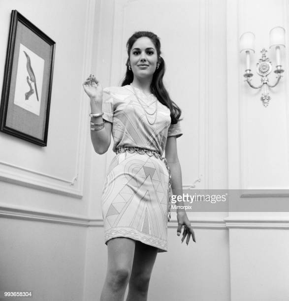 Linda Harrison, american actress in the UK to attend the Royal Film Performance of The Prime of Miss Jean Brodie , pictured at hotel in London,...