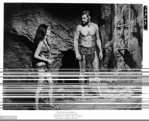 Linda Harrison Looks To James Franciscus In A Scene From