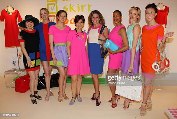 Linda Hart Angie Schworer Alex Ellis Lisa Perry Rachelle Rak Kieran Giovanni Rachel deBenedet and Kristin Piro attends the celebration of the launch...