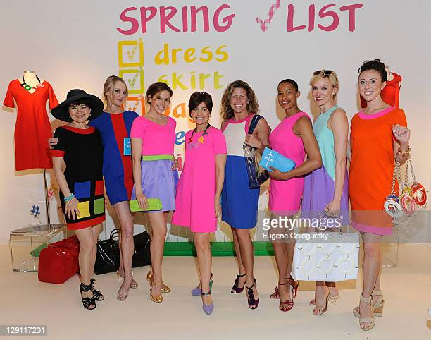 Linda Hart Angie Schworer Alex Ellis Lisa Perry Rachelle Rak Kieran Giovanni Rachel deBenedet and Kristin Piro attend the celebration of the launch...