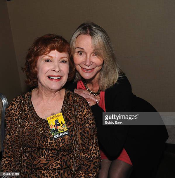 Linda Henning and Gunilla Hutton attends the Chiller Theatre Expo Day 1 at Sheraton Parsippany Hotel on October 23 2015 in Parsippany New Jersey