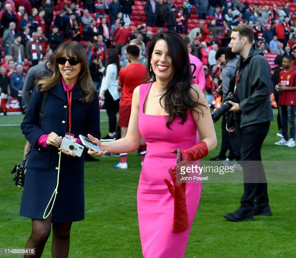 Linda Henry Pizzuti owners of Liverpool at the end of the Premier League match between Liverpool FC and Wolverhampton Wanderers at Anfield on May 12...