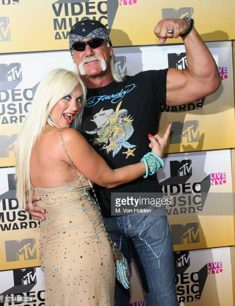 Linda Hogan and Hulk Hogan during 2006 MTV Video Music Awards Arrivals at Radio City Music Hall in New York City New York United States