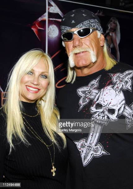 Linda Hogan and Hulk Hogan during Brooke Hogan Signs Her New CD Undiscovered October 24 2006 at FYE in New York City New York United States