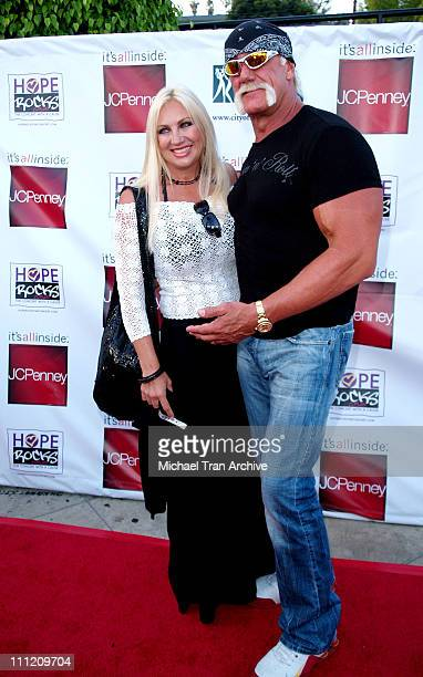 Linda Hogan and Hulk Hogan during Young Hollywood Says Hope Rocks Concert to Benefit City of Hope Arrivals at Key Club in Los Angeles California...