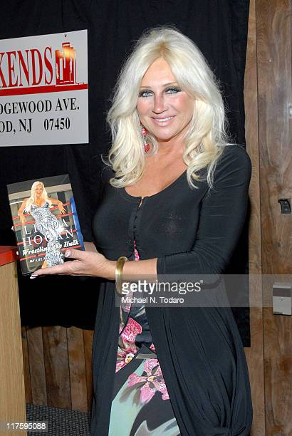 Linda Hogan promotes her book Wrestling The Hulk My Life Against The Ropes at the Bookends Bookstore on June 28 2011 in Ridgewood New Jersey