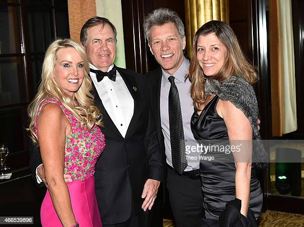 Linda Holliday Bill Belichick Jon Bon Jovi and Dorthea Bon Jovi attend the 5th Annual Irish Eyes Gala at JW Marriott Essex House on March 16 2015 in...