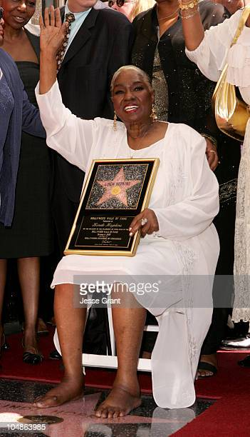 Linda Hopkins during Linda Hopkins Honored with a Star on the Hollywood Walk of Fame at The Pantages Theatre in Hollywood California United States