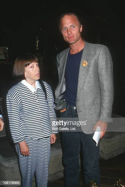 Linda Hunt and Ed Harris during The War on Children Exhibit September 10 1987 at The Limelight in New York City New York United States