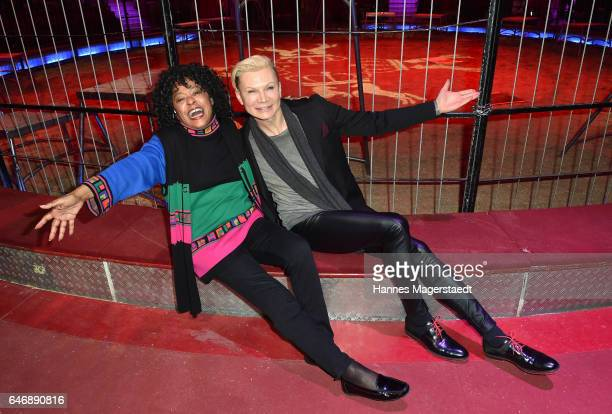 Linda Joan Orleans and Chris Kolonko during Circus Krone celebrates premiere of 'Krone KUHlinarrisch' at Circus Krone on March 1 2017 in Munich...