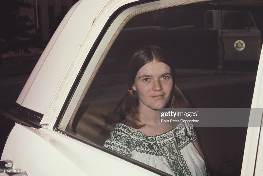 Linda Kasabian, star witness in the Sharon Tate and LaBianca murder trial arrives at the court building in Los Angeles, United States to deliver her testimony against the Manson family on 13th August 1970. The defendents in the trial, including their leader Charles Manson would go on to be convicted of murder and sentenced to death in April 1971.