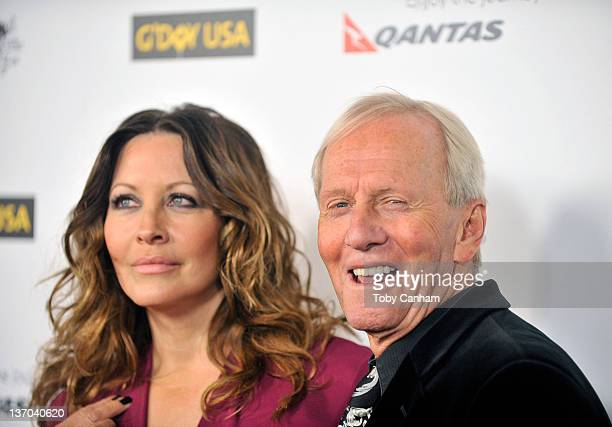 Linda Kozlowski and Paul Hogan arrives for the 9th Annual G'Day USA Los Angeles Black Tie Gala on January 14 2012 in Hollywood California