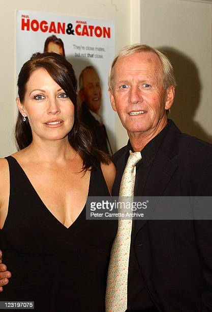 Linda Kozlowski and Paul Hogan attend the world premiere of the film 'Strange Bedfellows' at the Albury Cinema Centre on April 08 2004 in Albury...