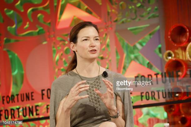Linda Kozlowski chief operating officer of Etsy Inc speaks during the Fortune's Most Powerful Women conference in Dana Point California US on...