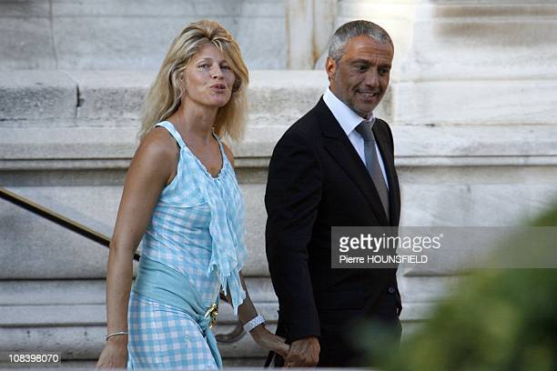 Linda Lacoste and her husband in NeuillysurSeine France on September 10th 2008