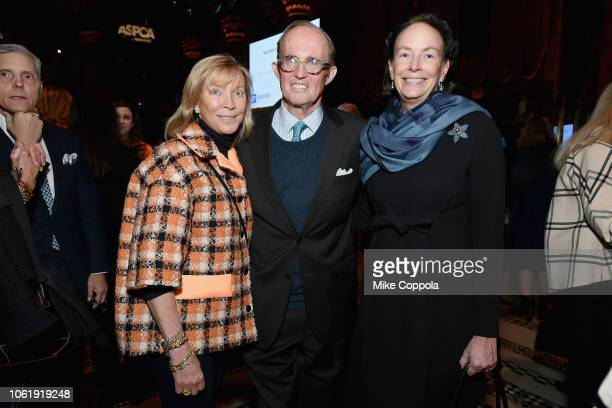 Linda Lambert Mark Gilbertson and Andrea Fahnestock attend the ASPCA Hosts 2018 Humane Awards Luncheon at Cipriani 42nd Street on November 15 2018 in...