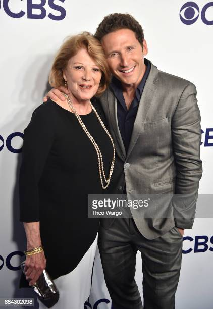 Linda Lavin and Mark Feuerstein attend the 2017 CBS Upfront on May 17 2017 in New York City