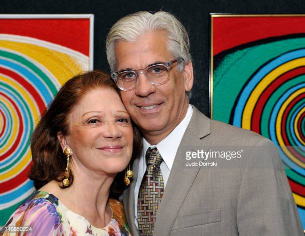 Linda Lavin and Steve Bakunas attend the 5th annual Vineyard Theatre Emerging Artists Luncheon at The National Arts Club on June 21, 2012 in New York...