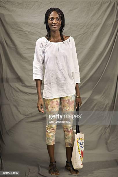 Linda Lebrault 43 years old from Ghana poses during SAFEM Salon international de l'artisanat pour la femme trade fair on December 09 2013 in Niamey...