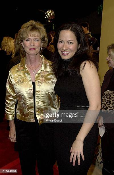 Linda Lee Cadwell the widow of martial arts film star Bruce Lee and Shannon Lee the daughter of Bruce Lee arrive for the premiere of Romeo Must Die...