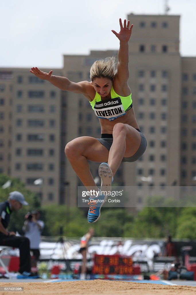 Linda Leverton, Australia, in action during the Women's Triple Jump  competition during the Diamond