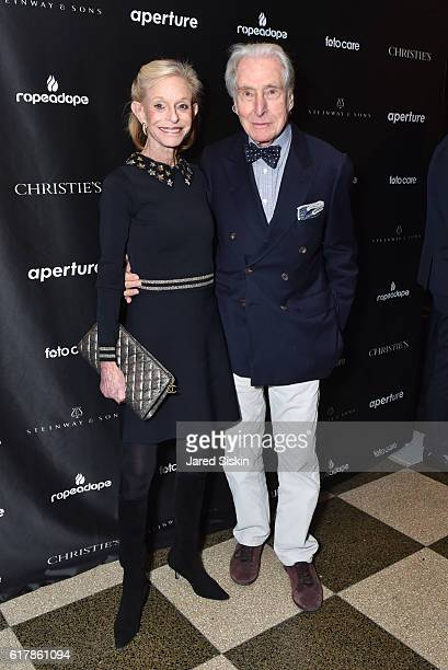 Linda Lindenbaum and Capser Lindenbaum attend the Aperture Foundation 2016 Fall Benefit at The Edison Ballroom on October 24 2016 in New York City