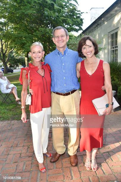 Linda Lindenbaum Bob Horn and Laurie Lindenbaum attend the Guild Hall Summer Gala 2018 at Guild Hall on August 10 2018 in East Hampton New York