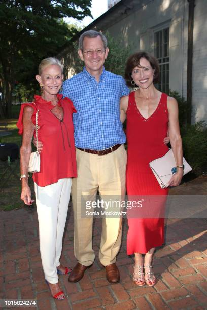 Linda Lindenbaum Bob Horne and Laurie Lindenbaum attend the 2018 Guild Hall Summer Gala on August 10 2018 in East Hampton New York