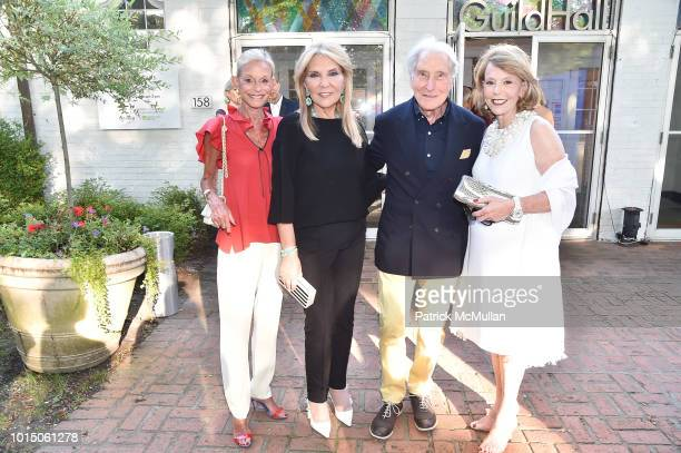 Linda Lindenbaum Judith RIpka Herbert Kasper and Adrianne Silver attend the Guild Hall Summer Gala 2018 at Guild Hall on August 10 2018 in East...