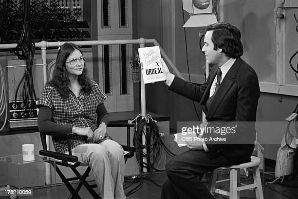 Linda Lovelace being interviewed by Stanley Siegel on THE STANLEY SIEGEL SHOW. Image dated February 6, 1980.