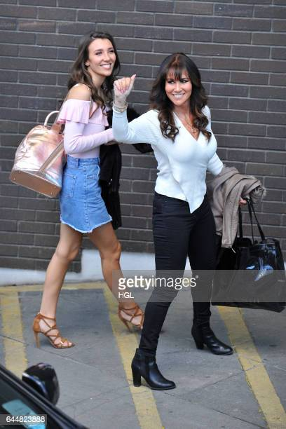 Linda Lusardi and daughter Lucy Kane seen arriving at the ITV Loose Women studios on February 24 2017 in London England